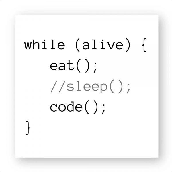 Sticker Eat Sleep Code