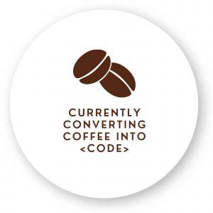 Sticker Converting coffee