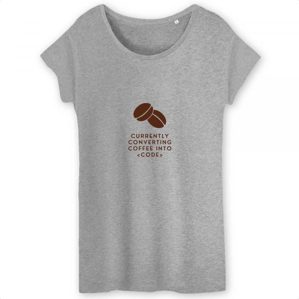 Converting coffee T-shirt femme